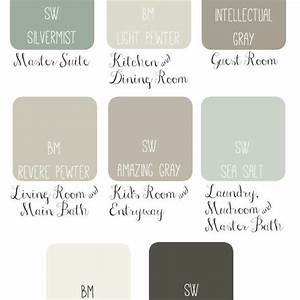 Whole House Paint Scheme Idea Soothing Sophisticated