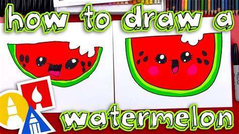 draw  cartoon watermelon youtube