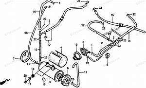 Honda Motorcycle 1993 Oem Parts Diagram For Canister Ac