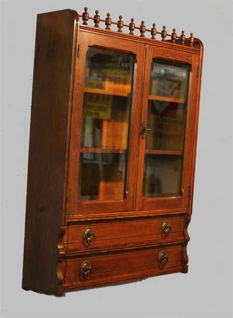 Bargain Johns Antiques Antique Oak Wall Curio Cabinet