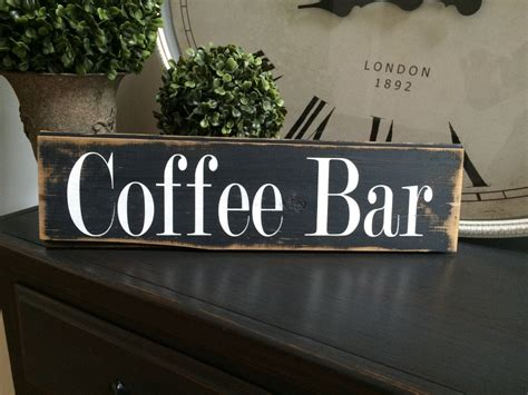 Find & download free graphic resources for coffee menu. Coffee Bar sign with distressing. Black gray sign by ...