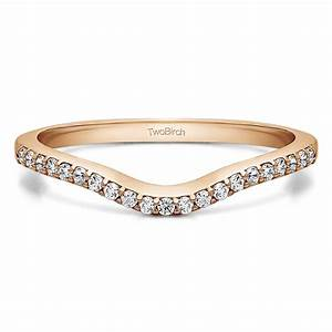 016 carat dainty contour wedding ring With contour wedding rings