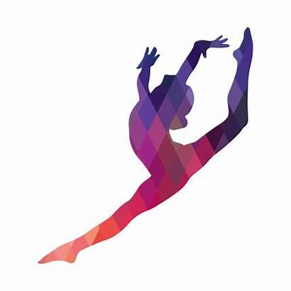 Gymnastics Silhouette Leap Gymnast Dance Dancer Sticker