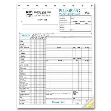 plumbing invoice forms print ez