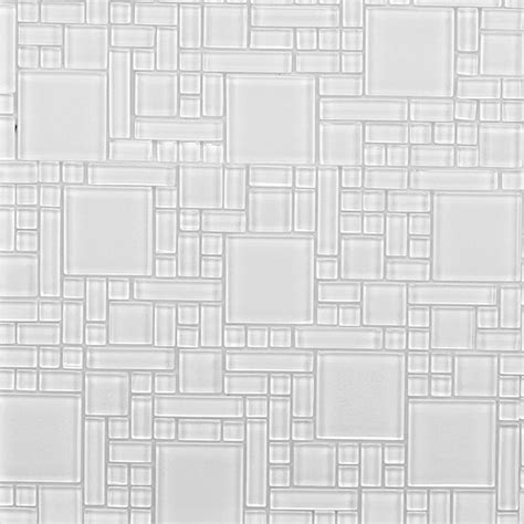 instant mosaic peel and stick white 12 in x 12 in x