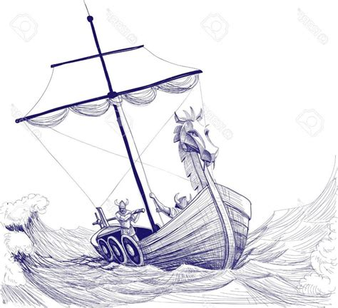 Viking Boats Step By Step by Viking Boat Drawing At Getdrawings Free For Personal
