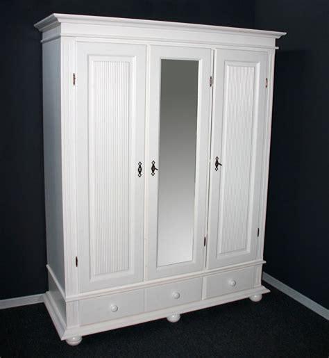 Weiße Möbel Mit Holz by Garderoben Schrank Dielenschrank Kleiderschrank