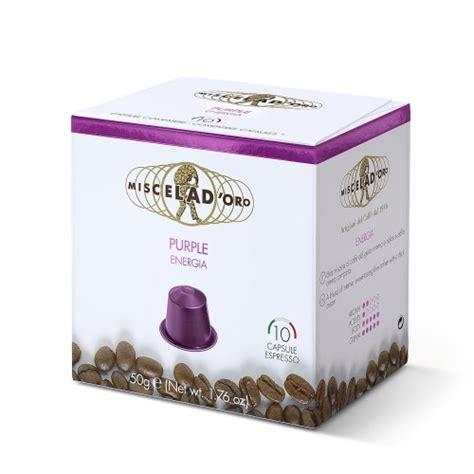 Purple Nespresso Machine by Purple 10 Capsules Nespresso Compatible Miscela D Oro