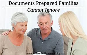 Documents prepared families cannot ignore for Documents prepared families cannot ignore