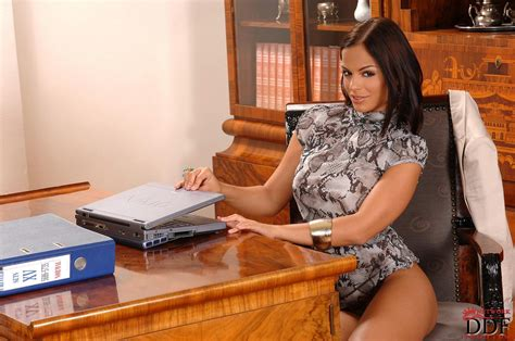 Hot secretary Black Angelika masturbating in the office - My Pornstar Book