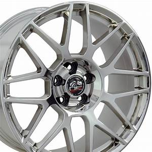 """Wheels for Mustang - 19"""" Fits Ford - Mustang Wheel - PVD Chrome 19x10"""