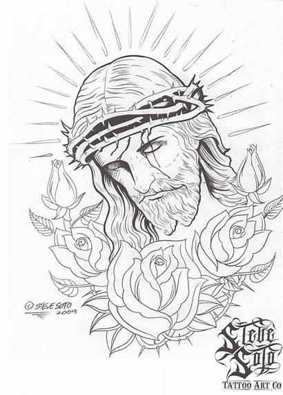 Jesus Tattoo Drawing Religious Sketches Sketch Tattoos