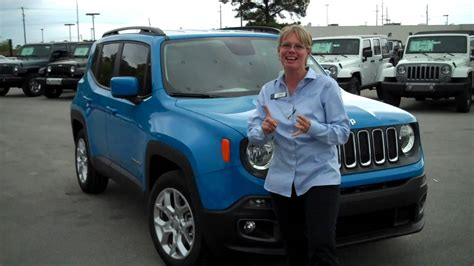 jeep renegade trailhawk blue take a look at the new sierra blue 2015 renegade youtube