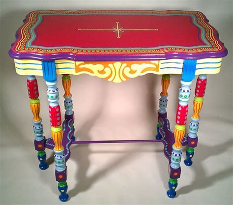 painted furniture side table or accent table side