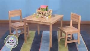 Table Pour Enfant En Bois Naturel Et 2 Chaises YouTube