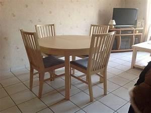 Table Ronde Ikea : chaises occasion mions 69 annonces achat et vente de ~ Melissatoandfro.com Idées de Décoration