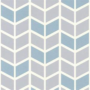 Papier Peint Motif Geometrique : papier peint expans sur intiss motif picot bleu ~ Dailycaller-alerts.com Idées de Décoration
