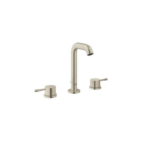 grohe essence faucet shop grohe essence brushed nickel 2 handle widespread