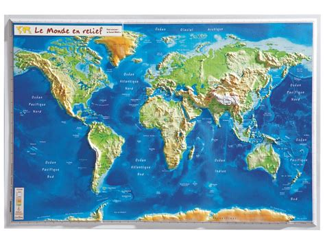 Carte Du Monde 3d by Carte Murale En Relief Monde Wesco