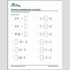 Grade 5 Math Worksheets Multiplying Fractions (missing Factors)  K5 Learning