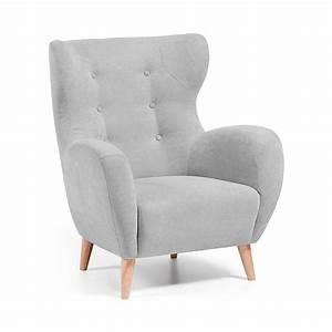 fauteuil scandinave tissu rembourre avec boutons With tapis exterieur avec canapé cocktail scandinave