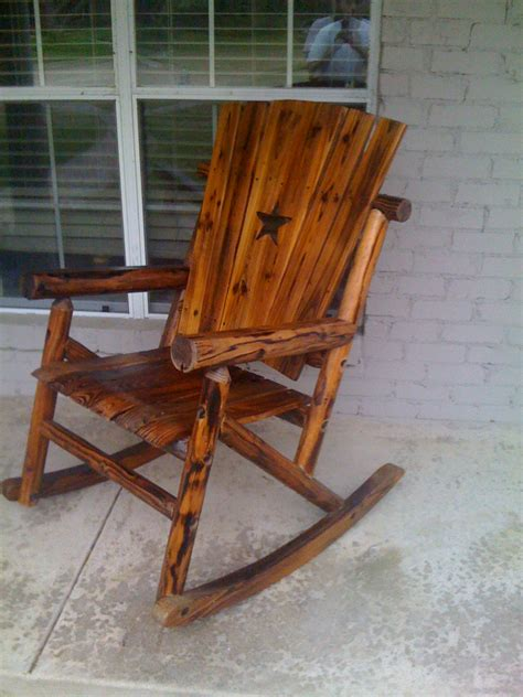 rustic wood outdoor furniture