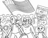 Coloring Cgi Designlooter Refugee Welcome sketch template