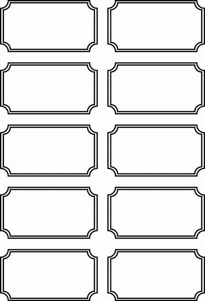 Tickets Printable Blank Templates Carnival Ticket Coloring