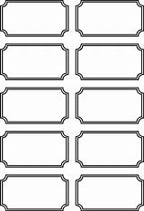 Tickets Printable Blank Templates Carnival Ticket Coloring Circus Sheets Printablee Via sketch template