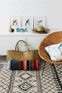 1001 photos d39interieurs decores a la base des motifs With tapis moderne avec plaid tissu canapé