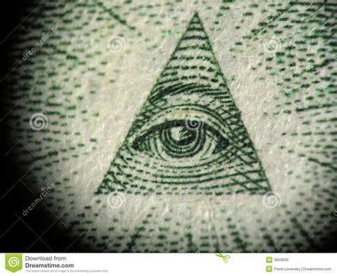 Illuminati X by Pyramid On The One Dollar Bill Royalty Free Stock Photo