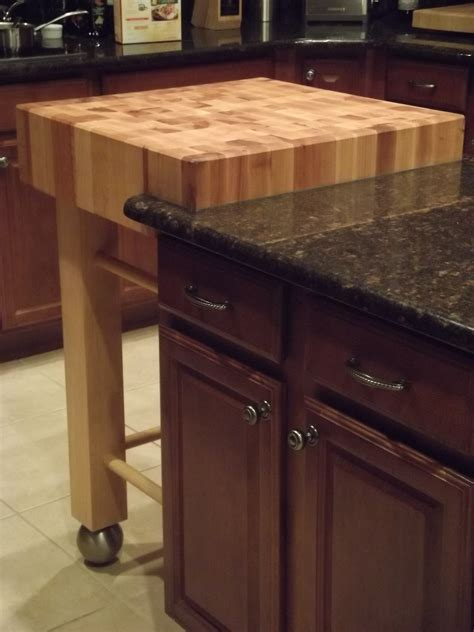 kitchen island with legs butcher block extension using osborne fusion legs 5214