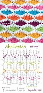 Shell Stitch - Free Crochet Diagram
