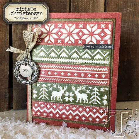 Richele Christensen Holiday Knit Card Christmas