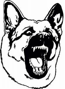Drawn german shepherd angry - Pencil and in color drawn ...