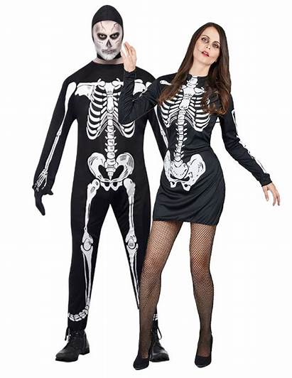 Halloween Pareja Disfraz Disfraces Parejas Esqueletos Costume