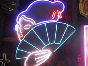 Japanese Geisha with Animated Fan NEON SIGN for sale