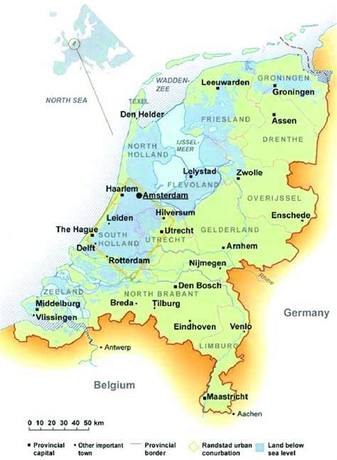 map   netherlands  scientific diagram