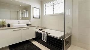 Carrelage Noir Salle De Bain : salle bain noir blanc carrelage metro ~ Dailycaller-alerts.com Idées de Décoration