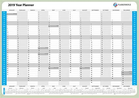 laminated modern design wall year planner rolled good quality