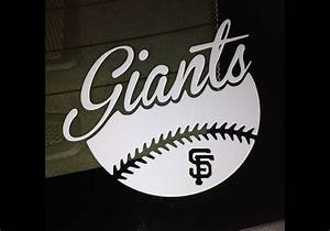 san francisco giants sf baseball vinyl decal bumper sticker With vinyl lettering san francisco