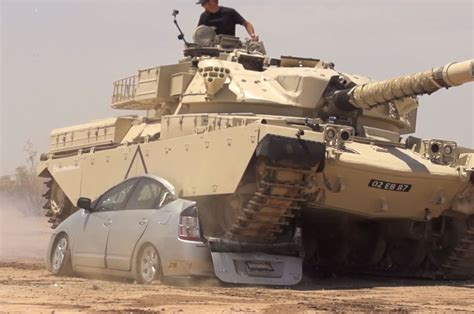 video toyota prius  recycled  tank roadkill