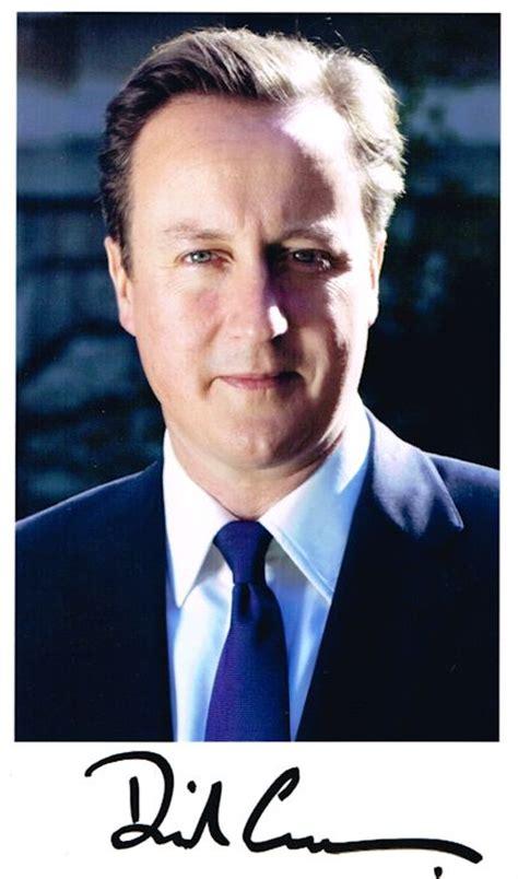 david cameron authentic autograph photo prime minister