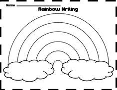 printable rainbow templates large medium small