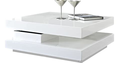 table basse carree blanche table basse plateau pivotant but ezooq