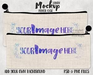 Dye Sublimation Linen Pencil Case Mockup Template