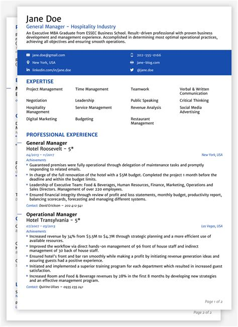 Official Cv Template by 2018 Cv Templates Create Yours In 5 Minutes