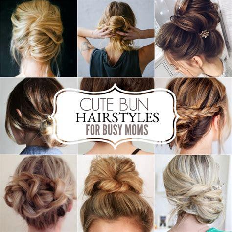 cute bun hairstyles bun hairstyles for moms