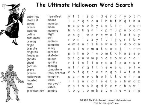 halloween printable halloween word search halloween
