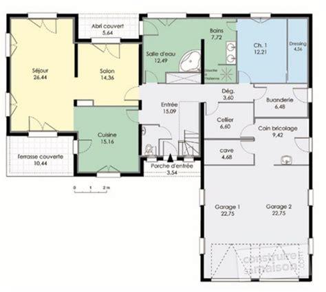 plan maison etage 4 chambres plan maison plain pied 4 chambres avec suite parentale
